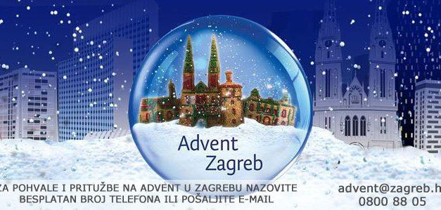 Besplatni telefon za pohvale i pritužbe na Advent u Zagrebu