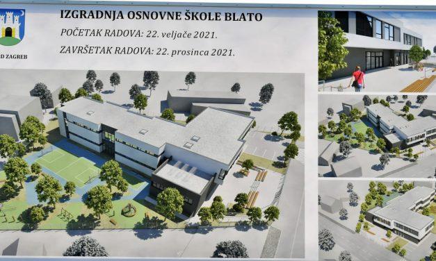 Započinje gradnja novoga područnog objekta OŠ Savski Gaj u Blatu